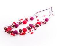 Red beads Stock Photo