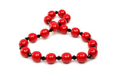 Red beads isolated Royalty Free Stock Image