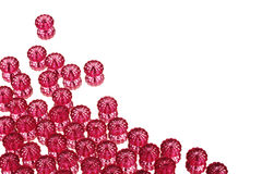 Red beads on mirror Stock Photo