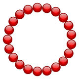 Red beads Stock Photography