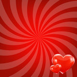 Red Beams And Hearts Royalty Free Stock Image