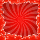 Red Beams And Hearts Frame Royalty Free Stock Photography