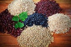 Red bean black bean rice grain Royalty Free Stock Images