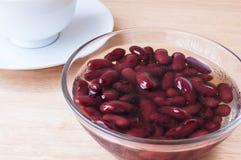 Red bean boil sugar stock image