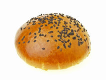 Red bean bun on white Royalty Free Stock Image
