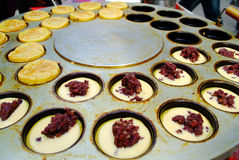 Red bean cake Stock Images