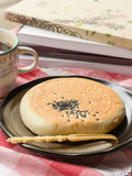 Red bean filled bread Stock Photography