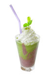 Red bean and Green tea smoothie Royalty Free Stock Photos