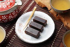 Red bean jelly Stock Image
