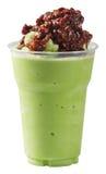 Red bean Milk Green tea smoothie Royalty Free Stock Photo