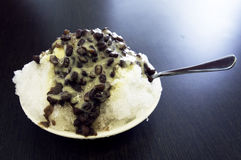 Red bean with milk ice Stock Photography