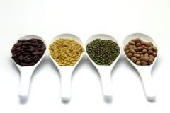Red bean, mung beans, Peanut, Soybean Royalty Free Stock Photos