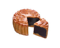 Red bean paste moon cake. Traditional red bean paste moon cake Royalty Free Stock Photo