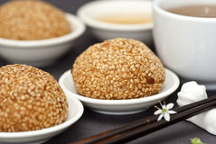 Red Bean Pastries with Sesame Seeds Royalty Free Stock Photo