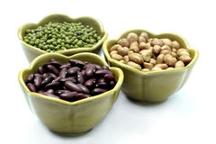 Red Bean, Peanut, mung beans Royalty Free Stock Photo