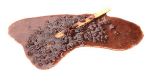 Red bean popsicle melting completely Stock Photo
