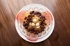 Red bean pumpkin soup Royalty Free Stock Photo