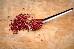 Red bean and scoop Stock Image
