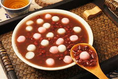 Red bean soup with rice ball Royalty Free Stock Image