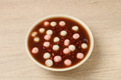 Chinese Dessert, Red Bean Soup With Rice Ball Royalty Free ...
