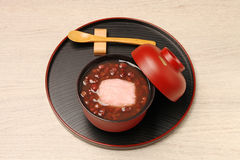 Red bean sweet soup with mochi. Stock Images