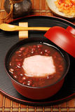 Red bean sweet soup with mochi. Royalty Free Stock Images