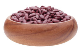 Red bean in wooden cup Stock Photography