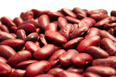 Red beans. On white background Stock Photography