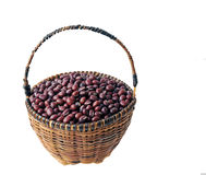 Red beans in basket Stock Photos