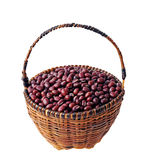 Red beans in basket Royalty Free Stock Photography