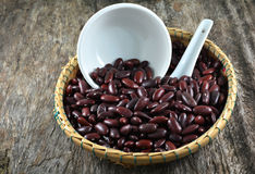 Red beans basket Royalty Free Stock Photography