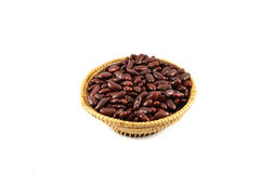 Red beans basket Royalty Free Stock Images