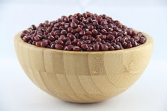 Red beans in bowl Royalty Free Stock Photos