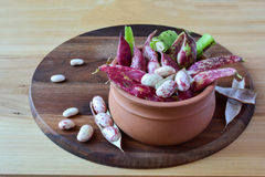 Red beans in a clay pot Royalty Free Stock Photography