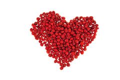 Red Beans Forming Heart Shape Stock Image