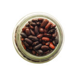 Red beans in a glass jar Royalty Free Stock Photos