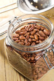 Red beans in glass jar Stock Photos
