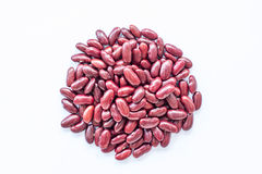 Red beans in isolate on white. Red beans (grain) in isolate on white background Royalty Free Stock Image