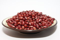 Red beans in plate Stock Photo