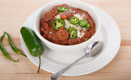 Red Beans and Rice with Jalapeno Peppers Royalty Free Stock Photography