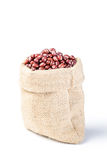 Red beans in the sack Royalty Free Stock Photography