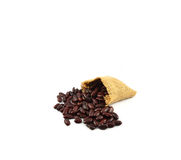 Red beans sacks Royalty Free Stock Images