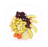 Red beans salad with avocado. Royalty Free Stock Images