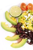 Red beans salad with avocado. Stock Photo