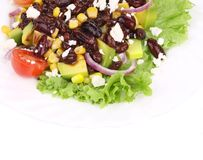 Red beans salad with feta cheese. Stock Photos