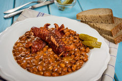Red beans and sausage Stock Images
