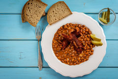 Red beans and sausage Royalty Free Stock Image