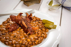 Red beans and sausage Royalty Free Stock Images
