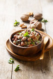 Red beans in walnut sauce Royalty Free Stock Photos