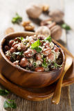 Red beans in walnut sauce Stock Photography